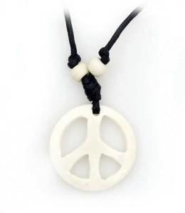 Yak Horn Anhänger, Peace 2