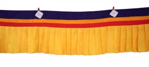 Fensterbehang aus Nepal, gelb 01, 200 cm
