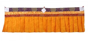 Fensterbehang aus Nepal, orange 02, 100 cm