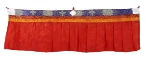 Fensterbehang aus Nepal, rot 02, 100 cm