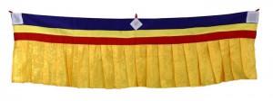 Fensterbehang aus Nepal, gelb 01, 100 cm