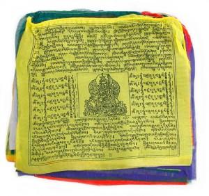 Gebetsfahnen aus Nepal, groß, Gesundheit/Schutz, Wohlstand/Glück, Frieden, Erfolg und Wissen - Länge ca. 8,75 m