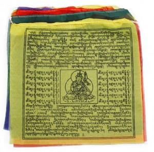 Gebetsfahnen aus Nepal, mittel, Gesundheit/Schutz, Wohlstand/Glück, Frieden, Erfolg und Wissen - Länge ca. 6,20 m