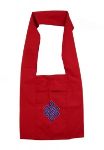 Mönchstasche aus Nepal, rot, Endloser Knoten
