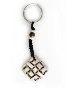 Schlüsselanhänger, Yak-Horn, Endloser Knoten 06