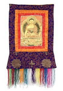 Stoff-Thangka, Sakyamuni Buddha