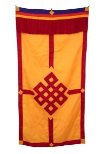 Tibetischer Türbehang, Endloser Knoten, orange