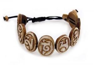 "Yak Horn Armband ""Om Mani Padme Hum"" aus Nepal"