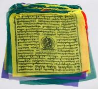 Gebetsfahnen aus Nepal, groß, Glück/Wohlstand