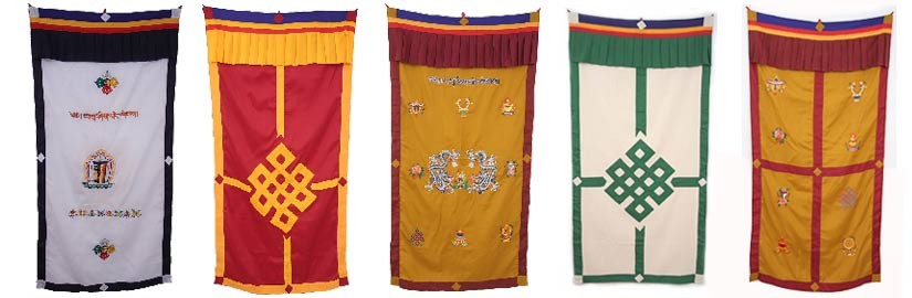 Tibetische Türbehänge