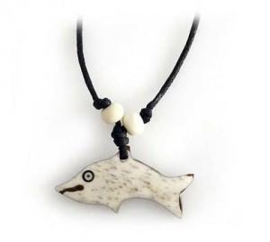 Yak Horn Anhänger, Delfin 2