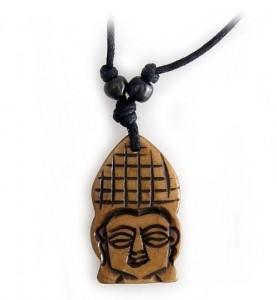 Yak Horn Anhänger - Buddha Kopf 2