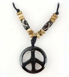 Yak Horn Anhänger - Tibet-Style, Peace 2