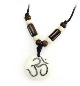 Om Anhänger aus Horn/Stein - Tibet-Style 3