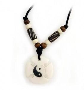 Ying/Yang Anhänger aus Horn/Stein 6