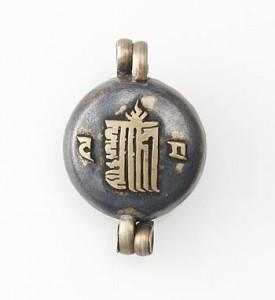 Gau Anhänger, Kalachakra und Visvavajra  Zeichen