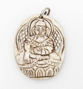 Yak Horn Anhänger - Buddha Sakyamuni