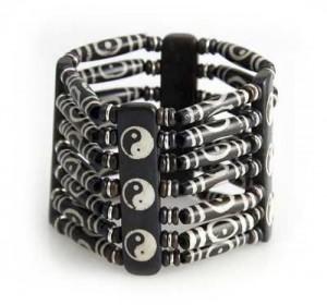 "Yak Horn Armband ""Ying und Yang"" aus Nepal"