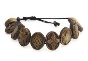 "Yak Horn Armband ""Eight Lucky Symbols"" aus Nepal"