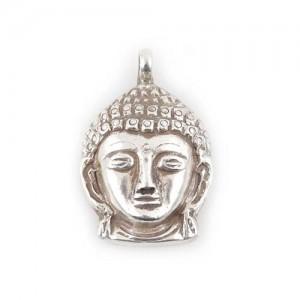 Buddha Sakyamuni Kopf Anhänger, Sterlingsilber (925)