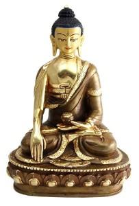 Vergoldete Buddha Sakyamuni-Statue, Nepal, 20 cm