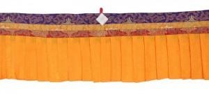 Fensterbehang aus Nepal, gelb 02, 400 cm