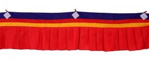 Fensterbehang aus Nepal, rot 01, 200 cm