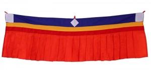 Fensterbehang aus Nepal, rot 01, 100 cm