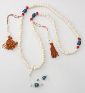 Gebetskette aus Horn, Steine, Zählwerke 02, Nepal
