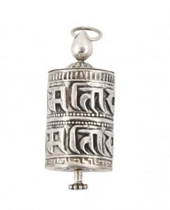 Gebetsmühlen Anhänger aus Nepal, Sterlingsilber (925)