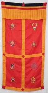 Tibetischer Türbehang, Eight Lucky Symbols, rot 02