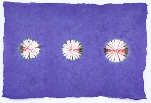 Lokta Papier-Bogen, Batikdruck, violet