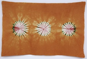 Lokta Papier-Bogen, Batikdruck, orange
