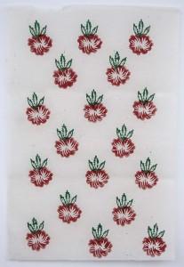 Lokta Papier-Bogen, Druck, Blumenmuster 2