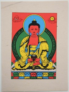 Grußkarte, Amithaba-Buddha