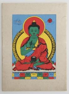 Grußkarte, Amogasiddhi Buddha