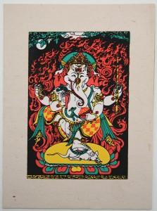Grußkarte, Ganesh