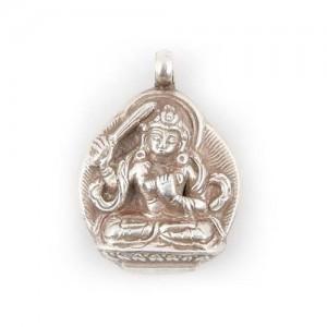 Manjushri Anhänger aus Nepal, Sterlingsilber (925)