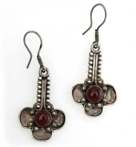 Silber-Ohrringe mit Turmalin
