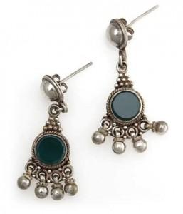 Silber-Ohrringe mit Fluorit