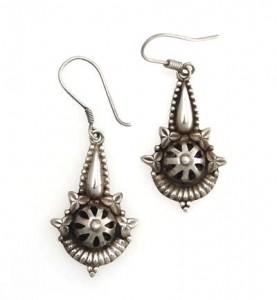 Silber-Ohrringe aus Nepal, Sterlingsilber (925)