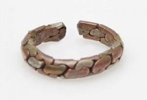 Drei Metalle Ring aus Nepal
