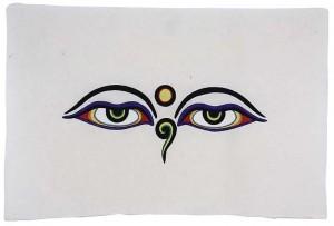 Loktapapier-Bogen, Druck, Allsehende Augen Buddhas 04