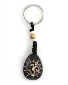 Schlüsselanhänger, Yak-Horn, Om Zeichen 2