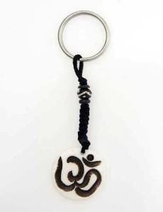 Schlüsselanhänger, Yak-Horn, Om Zeichen 3