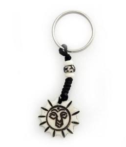 Schlüsselanhänger, Yak-Horn, Sonne