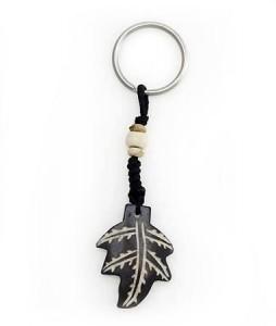Schlüsselanhänger, Yak-Horn, Blatt