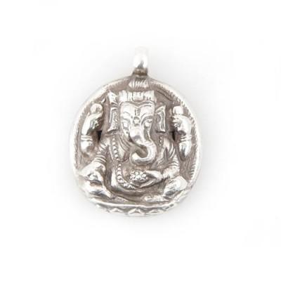 Ganesh Anhänger aus Nepal, Sterlingsilber (925)