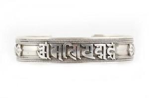 Om Mani Armreif, Sanskrit, mittel, Sterlingsilber (925)