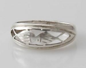 Ring Sterlingsilber (925) aus Nepal, Innendurchmesser 18,5 mm.